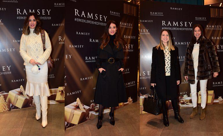 """Ramsey'in Yeni Yıla Özel """"Erkekler de Hediye İster""""Etkinliğine Ünlü Akını"""