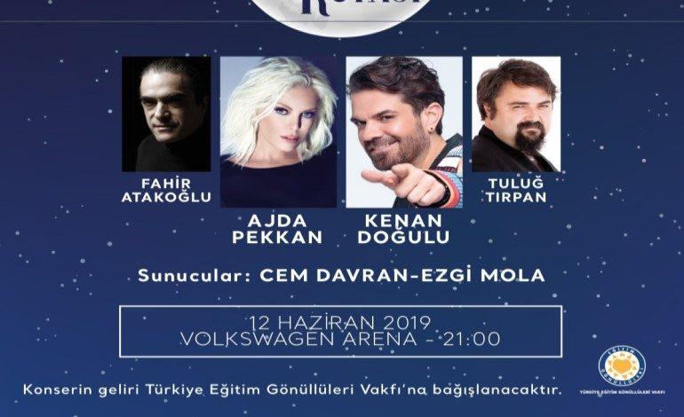 Ajda Pekkan, Kenan Doğulu, Fahir Atakoğlu ve Tuluğ Tırpan, çocuklar için sahnede!