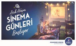 Şişli'de Açık Hava Sinema Gösterimleri Başlıyor