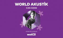Yapı Kredi bomontiada World Akustik serisinde bu hafta:  Can Ozan Avlu sahnesinde