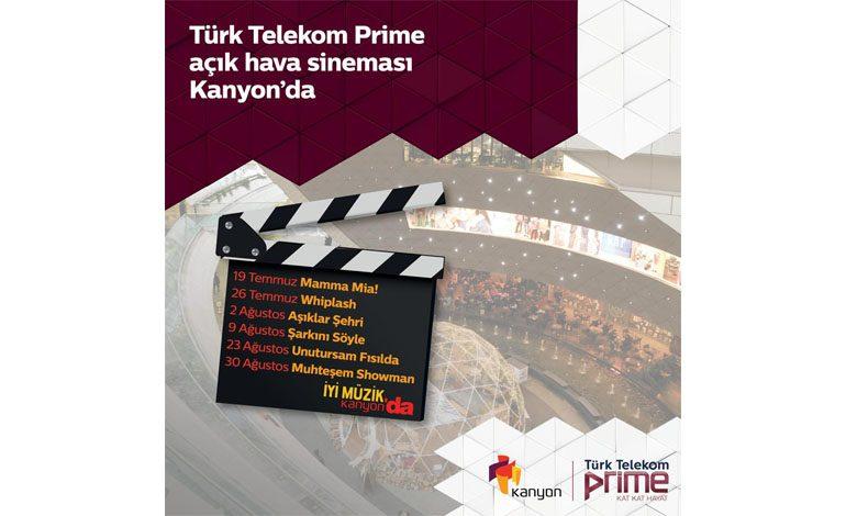 Türk Telekom Prime ile Açık Hava Sineması Kanyon'da!
