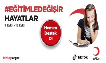 TikTok ve TÜRK KIZILAY'dan Ortak Kampanya: #EğitimleDeğişir