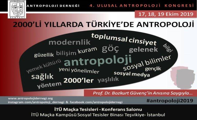 """IV. ULUSAL ANTROPOLOJİ KONGRESİ """"2000'li Yıllarda Türkiye'de Antropoloji"""""""