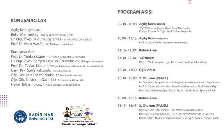 TOÇEV II. Uluslararası Ergenlik Kongresi başlıyor