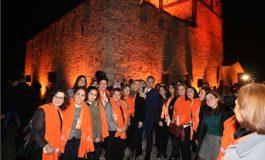Kadına Yönelik Şiddete Karşı Eylemin Finali Kız Kulesi'nde Yapıldı