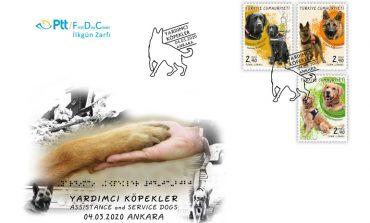 """PTT'den """"Yardımcı Köpekler"""" Konulu Anma Pulu"""