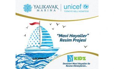 Yalıkavak Marina ve Unicef İşbirliği İle 23 Nisan-Mavi Hayaller Resim Projesi Başlıyor