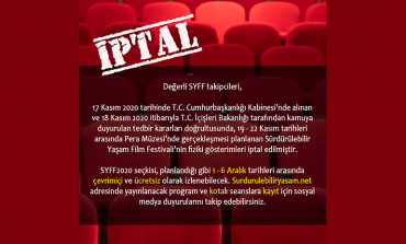 Sürdürülebilir Yaşam Film Festivali (SYFF2020) 19-22 Kasım Pera Gösterimleri Çevrimiçi Yapılacak