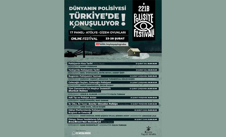 Türkiye'nin İlk ve Tek Polisiye Kültür Dergisi 221B,  5. Yaşını Polisiye Festivaliyle Kutluyor!