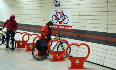 İstanbul Metrosu'na Bisiklet Parkları Yapılıyor