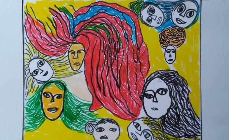 """Çocuklar """"Selma Gürbüz: Dünya Diye Bir Yer"""" sergisini çevrimiçi keşfediyor"""