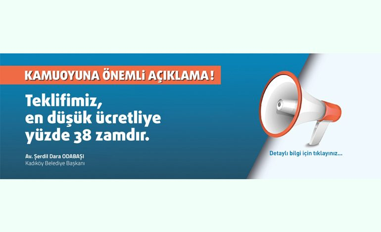 Kadıköy Belediye İşçileri Yüzde 38 Zam İle 4.972 TL'yi Beğenmeyerek Greve Gidiyor