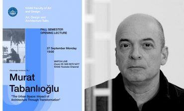 KHAS Sanat, Tasarım ve Mimarlık Konuşmaları'nın İlk Konuğu Murat Tabanlıoğlu