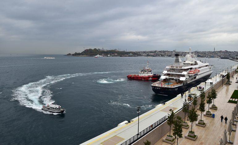 Galataport İstanbul ilk yolcu gemisini dünyanın tek yer altı kruvaziyer terminalinde ağırlıyor